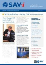 SAV LoadTracker – taking CHP to the next level - SAV Systems