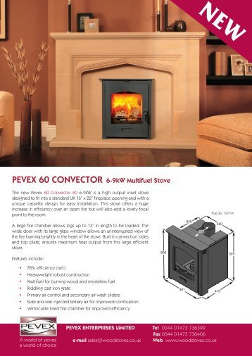 Pevex Convector and Slimline Inset brochure - Woodstoves.co.uk