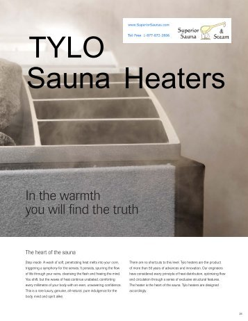 TYLO Sauna Heaters - Superior Sauna & Steam