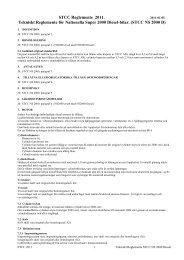 Tekniskt Reglemente NS 2000 - STCC
