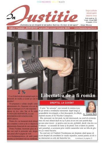 Libertatea de a fi român - In Justitie
