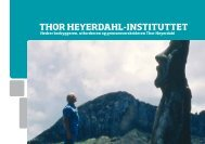THOR HEYERDAHL-INSTITUTTET - The Thor Heyerdahl Institute