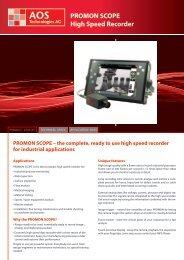 PROMON SCOPE High Speed Recorder - Insatec