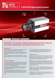 S-MOTION High Speed Camera - Mengel Engineering