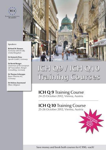 ICH Q 9 Training Course ICH Q 10 Training Course