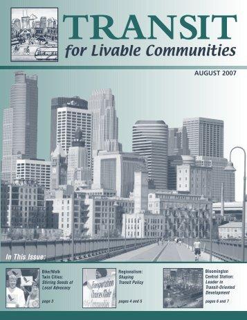 September 2007 - Transit for Livable Communities