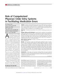 Role of Computerized Physician Order Entry Systems - ResearchGate