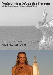 Yoga of Heart-Yoga des Herzens - Dakini Dance Projects