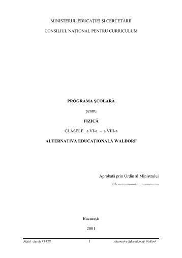 Fizică VI-VIII
