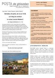 Poşta de ghiozdan 3 _ 5 aprilie 2013 - Liceul Waldorf