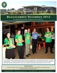 BEACHCOMBER NOVEMBER 2012 - Beach Grove Golf Club