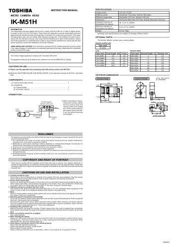 Manual für IK-M51H