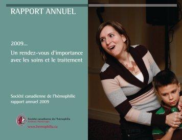 RAPPORT ANNUEL - Société Canadienne de l'Hémophilie