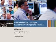 Capital Markets Linkages - OIC
