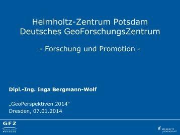 Forschung & Promotion am GFZ - phpweb.tu-dresden.de