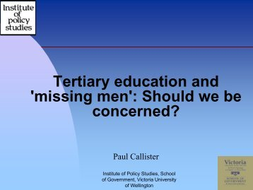 Tertiary education and 'missing men': Should we be concerned?
