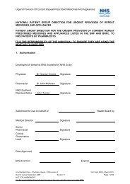 urgent medicines provision template - Community Pharmacy