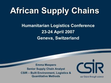 Logistics in African Context - Fritz Institute