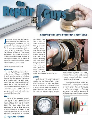 6″ 825YD Repair Guys Article - Drinking Water & Backflow ...