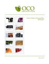 Ontario Organic Stategic Plan - Centre d'agriculture biologique du ...