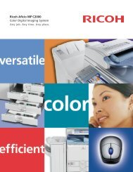 Ricoh Aficio MP C2000 - Repeat Business Systems