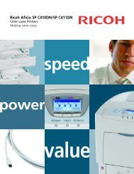Ricoh Aficio SP C410DN/SP C411DN - Repeat Business Systems