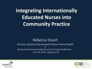 Integrating I - Community Health Nurses Canada