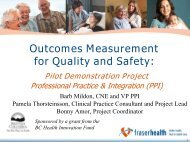 Outcomes Measurement for Quality and Safety - Community Health ...