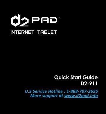 Quick Start Guide D2-911 - D2 PAD