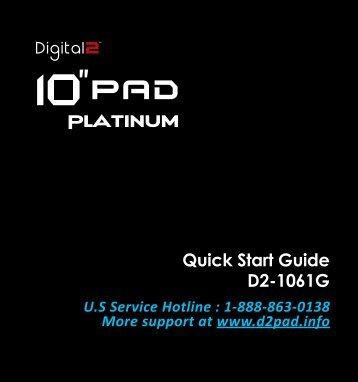 Quick Start Guide D2-1061G - D2 PAD