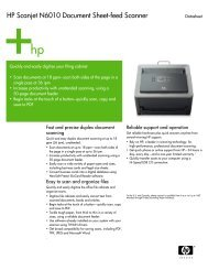 HP Scanjet N6010 Document Sheet-feed Scanner - Toshiba