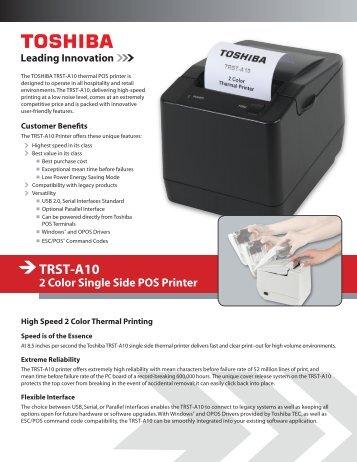 TRST-A10 Brochure - Toshiba