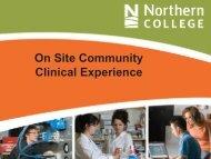 On Site Community Clinical Experience - Community Health Nurses ...