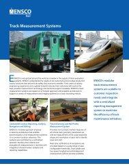 Track Measurement Systems (PDF) - ENSCO, Inc.