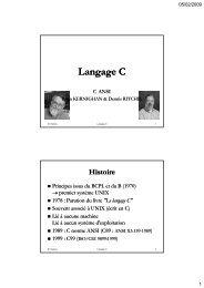 Langage C - Pages de Michel Deloizy - Free