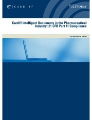 CDF TeleFor: Cardiff Intelligent Documents in the Pharmaceutical ...