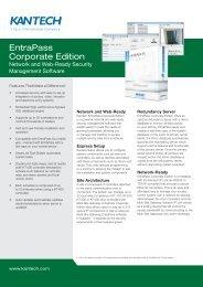 EntraPass Corporate Edition - Kantech