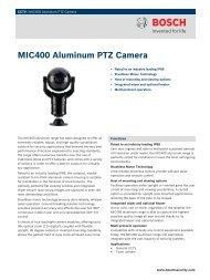 MIC400 Aluminum PTZ Camera - Videcon