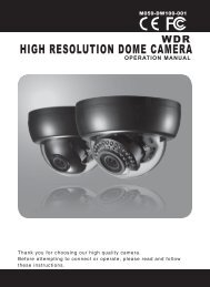 HIGH RESOLUTION DOME CAMERA - DWG