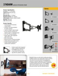 Series 37HDARM product information sheet - Security Camera ...
