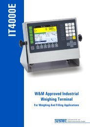W&M Approved Industrial Weighing Terminal - Jesma Vejeteknik A/S
