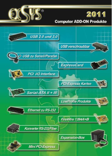 Katalog 2011 (download PDF-File) - Exsys