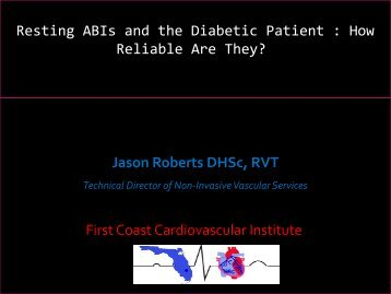 Resting ABIs and the Diabetic Patient : How ... - Fomadistrict2.com