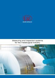 Catalog Metal inspection (PDF, 2.5 MB) - Micro-Epsilon