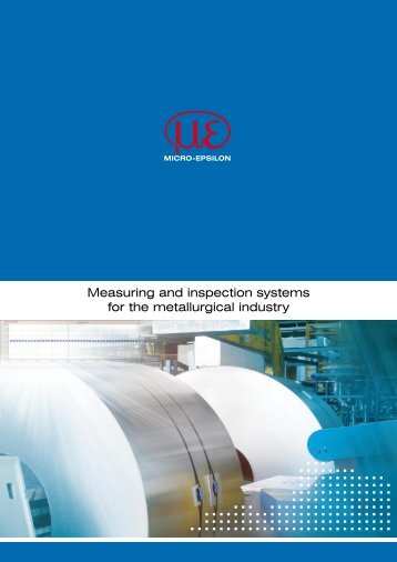 Catalog Metal inspection (PDF, 2.5 MB) - Micro-Epsilon