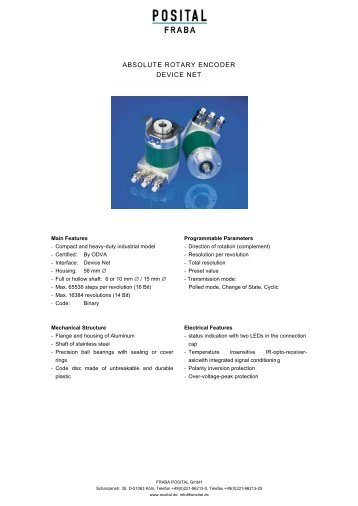 ABSOLUTE ROTARY ENCODER DEVICE NET