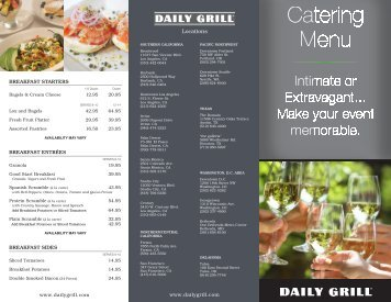 Catering Menu - Dine Here US