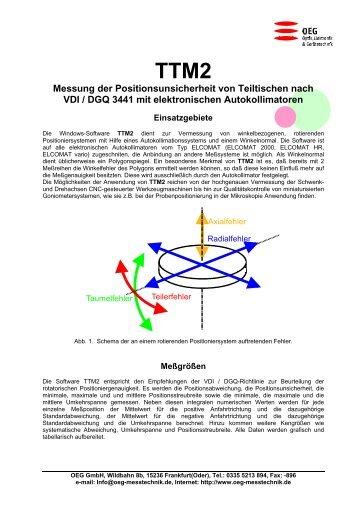 TTM2 Messung der Positionsunsicherheit von Teiltischen ... - OEG