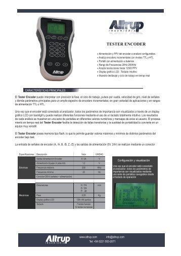 Brochure Tester Encoder - Altrup