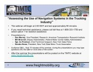 a pdf of the slides from the May 15, 2013 Navigation Systems webinar